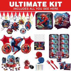 Spiderman Webbed Wonder Ultimate Tableware Kit (Serves 8)