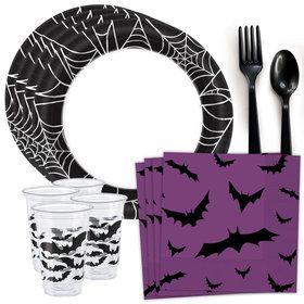 Spiders & Bats Standard Tableware Kit (Serves 40)