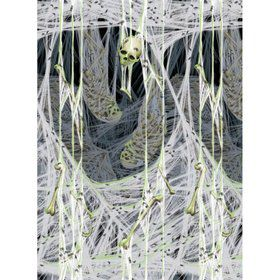 Spiders Lair Glow in the Dark Plastic Wall Decorating Kit (Each)
