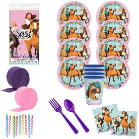 Spirit Riding Free Deluxe Tableware Kit with Favor Cup (Serves 8)