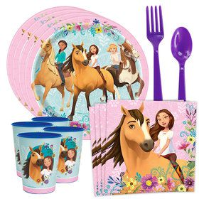 Spirit Riding Free Standard Tableware Kit with Favor Cup (Serves 8)