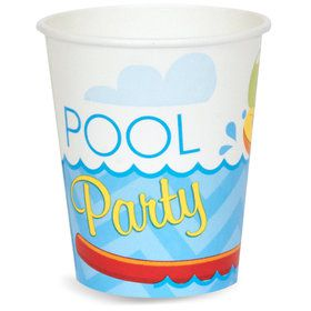 Splashin' Pool Party 9 oz. Paper Cups