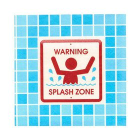 Splashin' Pool Party Beverage Napkins