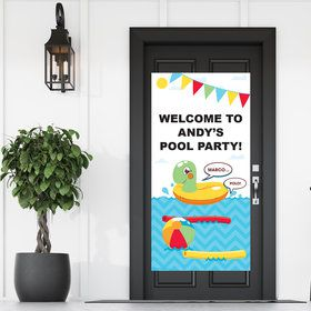 Splashin' Pool  Party Personalized Banner 30 X 60 Inches (Each)