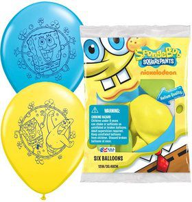 "SpongeBob 12"" Latex Balloons (6 Pack)"