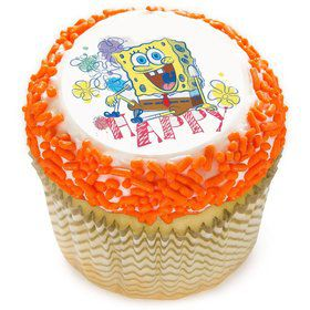 "SpongeBob 2"" Edible Cupcake Topper (12 Images)"