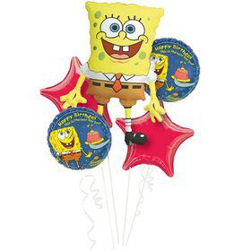 SpongeBob Balloon Bouquet (5 pack)