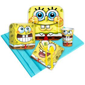 SpongeBob Birthday Party Deluxe Tableware Kit Serves 8