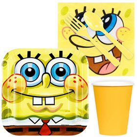 SpongeBob Birthday Party Standard Tableware Kit (Serves 8)