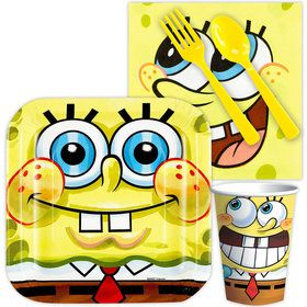 SpongeBob Birthday Party Standard Tableware Kit Serves 8