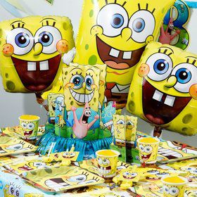 SpongeBob Birthday Ultimate Tableware Kit Serves 8