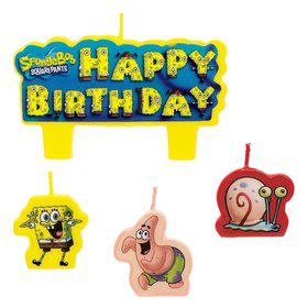 SpongeBob Candle Set (4 Pack)