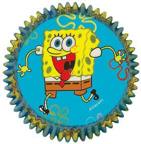 SpongeBob Cupcake Baking Cups (50 Pack)