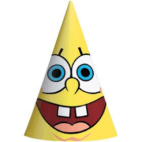 SpongeBob Paper Cone Hats (8 Pack)