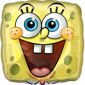 Spongebob Square Face Foil Balloon