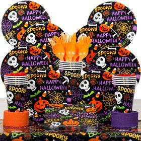 Spooktacular Party Deluxe Tableware Kit Serves 50