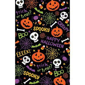 Spooktacular Plastic Table Cover (3 Pack)