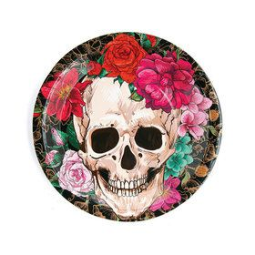 Spooky Floral Dinner Plates (8)