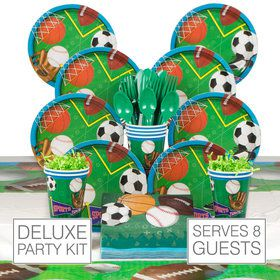 Sports Birthday Party Deluxe Tableware Kit Serves 8
