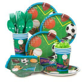 Sports Birthday Party Standard Tableware Kit Serves 8