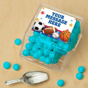 Sports Birthday Personalized Candy Bin with Candy Scoop (10 Count)