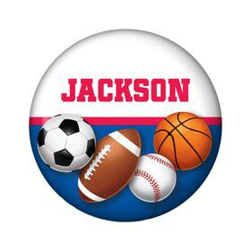 Sports Birthday Personalized Mini Button (each)