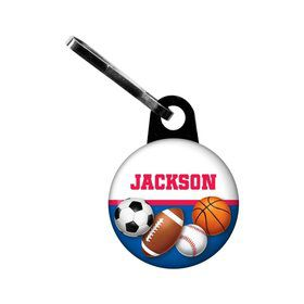 Sports Birthday Personalized Mini Zipper Pull (each)