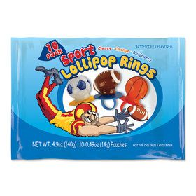 Sports Lollipop Rings (10 Pack)