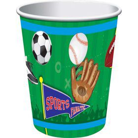Sports Party 9oz Cups (8 Pack)
