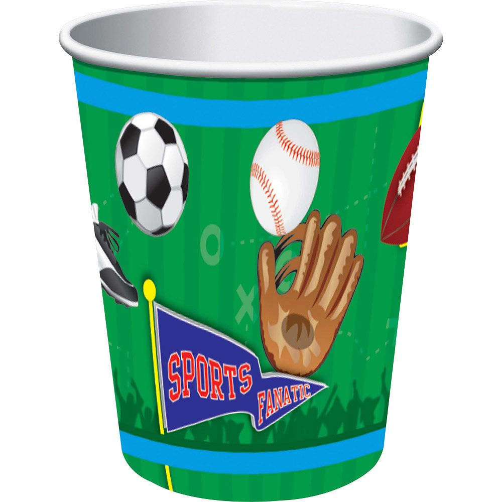 Sports Party Supplies 9oz Cups (8 Pack) BB72982