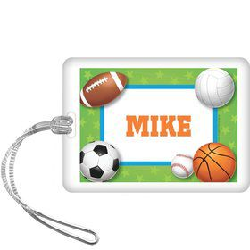 Sports Party Personalized Bag Tag (each)