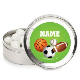 Sports Party Personalized Candy Tins (12 Pack)