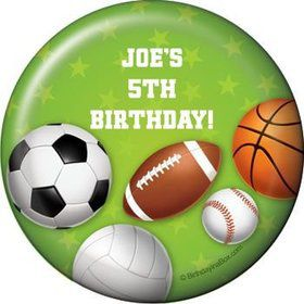 Sports Party Personalized Magnet (each)