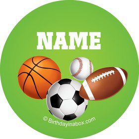 Sports Party Personalized Mini Stickers (Sheet of 20)