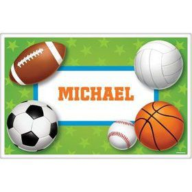 Sports Party Personalized Placemat (each)