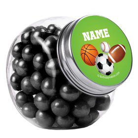 Sports Party Personalized Plain Glass Jars (10 Count)