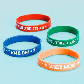 Sports Rubber Bracelet Favors (12 Pack)