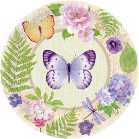 """Spring Fling 10.5"""" Luncheon Plates (8 Pack)"""