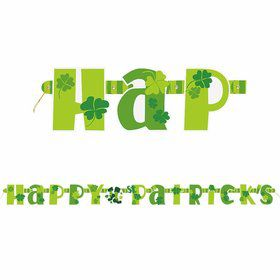 St. Patrick's Day 5' Jointed Banner Decoration (Each)