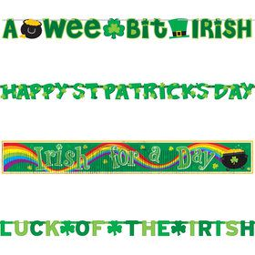 St. Patrick's Day Banner Pack (4 Count)