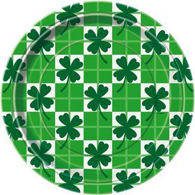"St. Patrick's Day Clover 7"" Cake Plates (8 Pack)"