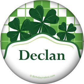 St. Patrick's Day Personalized Button (Each)