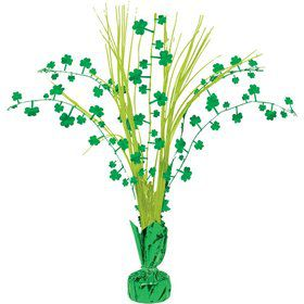 "St. Patrick's Day Shamrock 12"" Spray Centerpiece (Each)"
