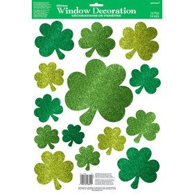 St. Patrick's Day Vinyl Window Decorations (14 Count)