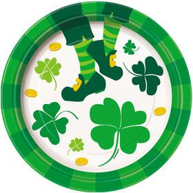 "St. Pat's Jig 7"" Cake Plate (8 Count)"