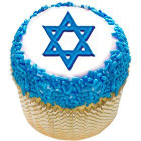 "Star of David 2"" Edible Cupcake Topper (12 Images)"