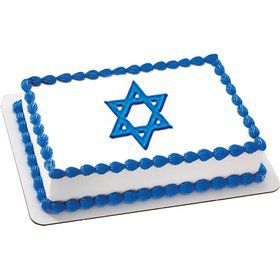 Star of David Quarter Sheet Edible Cake Topper (Each)
