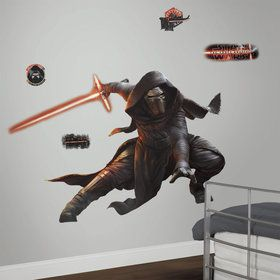 Star Wars 7 The Force Awakens Kylo Ren Glow in the Dark Giant Wall Decal