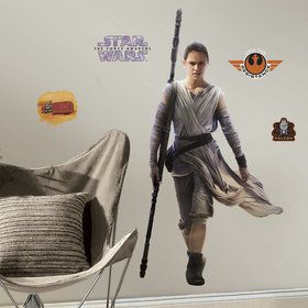 Star Wars 7 The Force Awakens Rey Giant Wall Decal