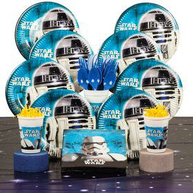 Star Wars Birthday Party Deluxe Tableware Kit Serves 8